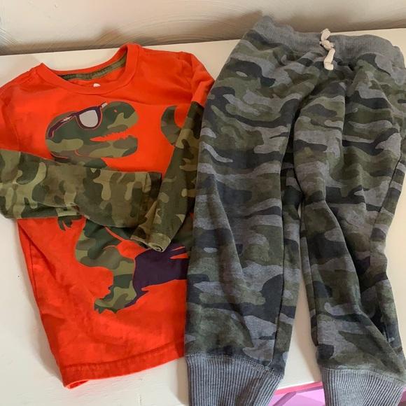 Boys cozy camo outfit